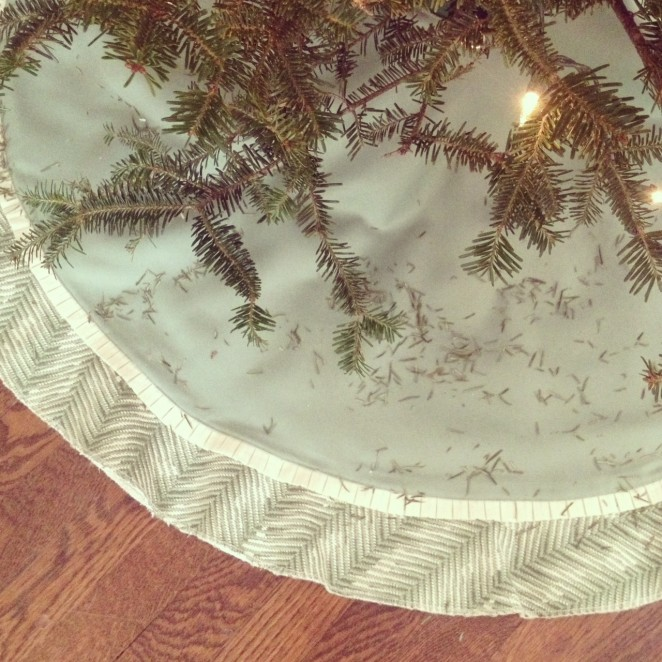 custom tree skirt by just kate