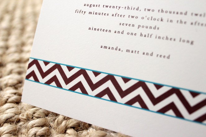 chevron birth announcement 2