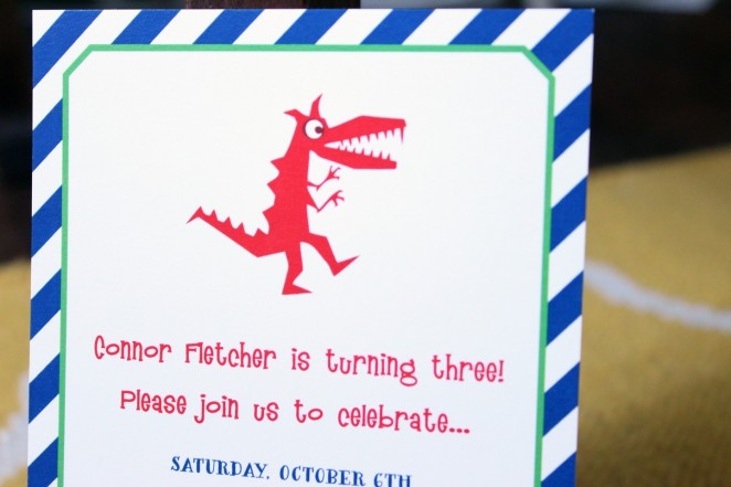 dinosaur birthday party invite