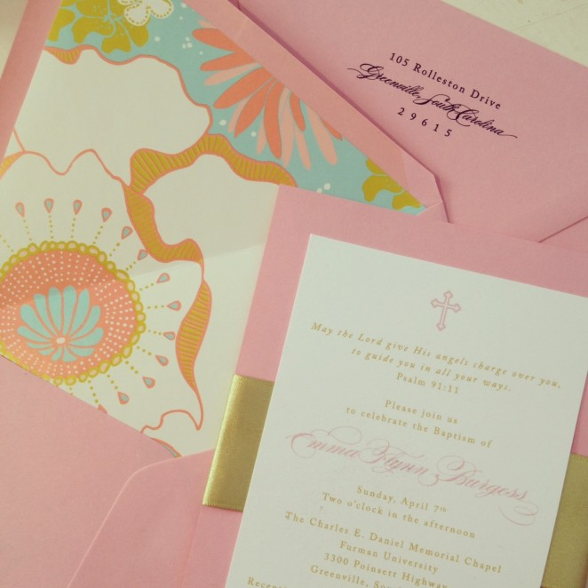 girl's baptism invitation