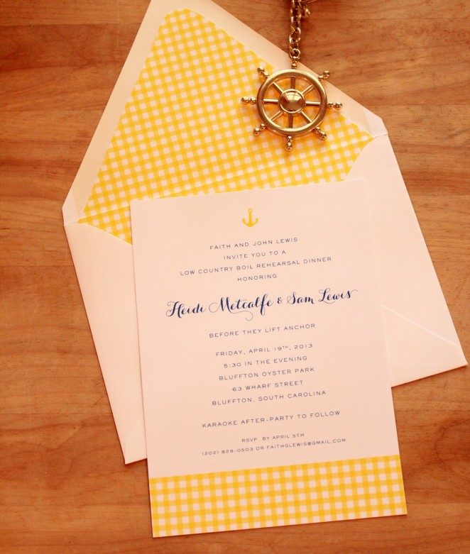 anchor rehearsal dinner invite