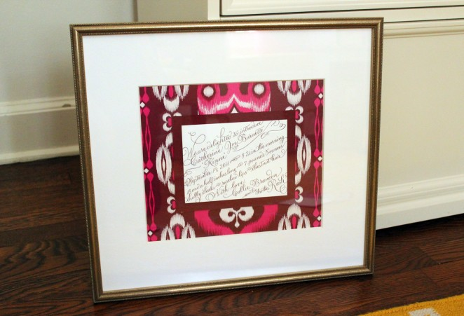 Framed Birth Announcement