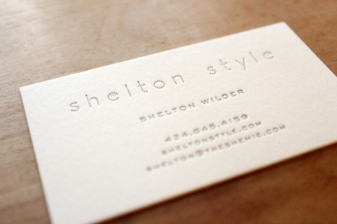 luxe letterpress card