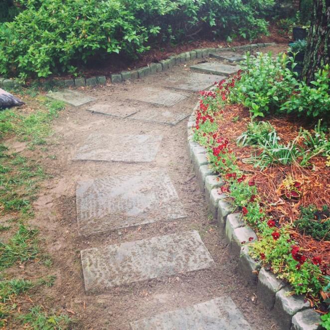 garden path before