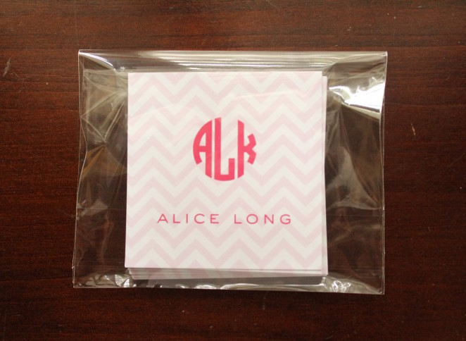 girl's chevron packaged