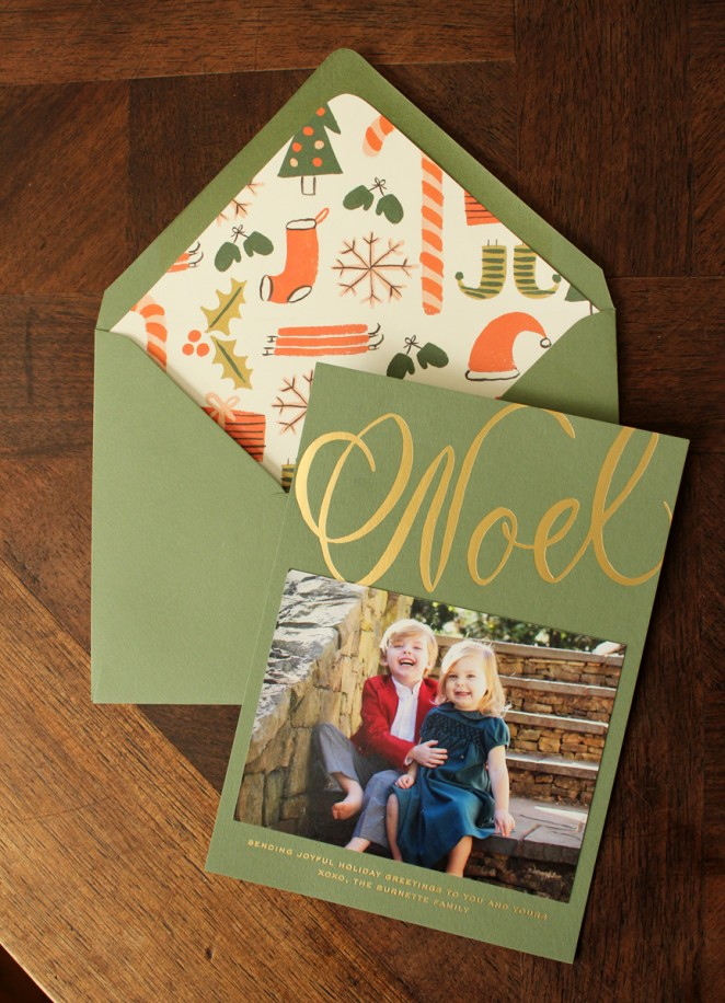 gold foil christmas card