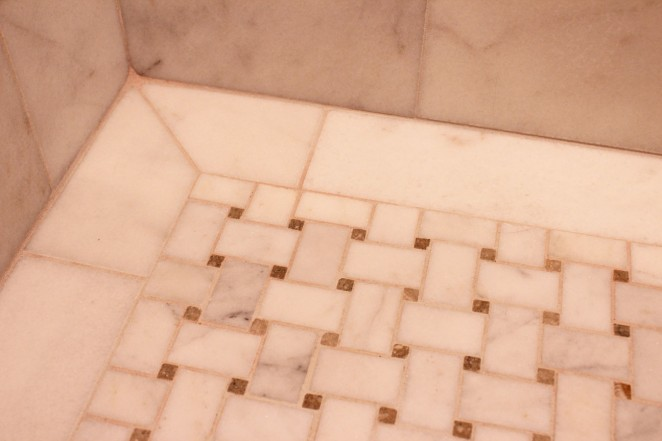 basket weave shower floor