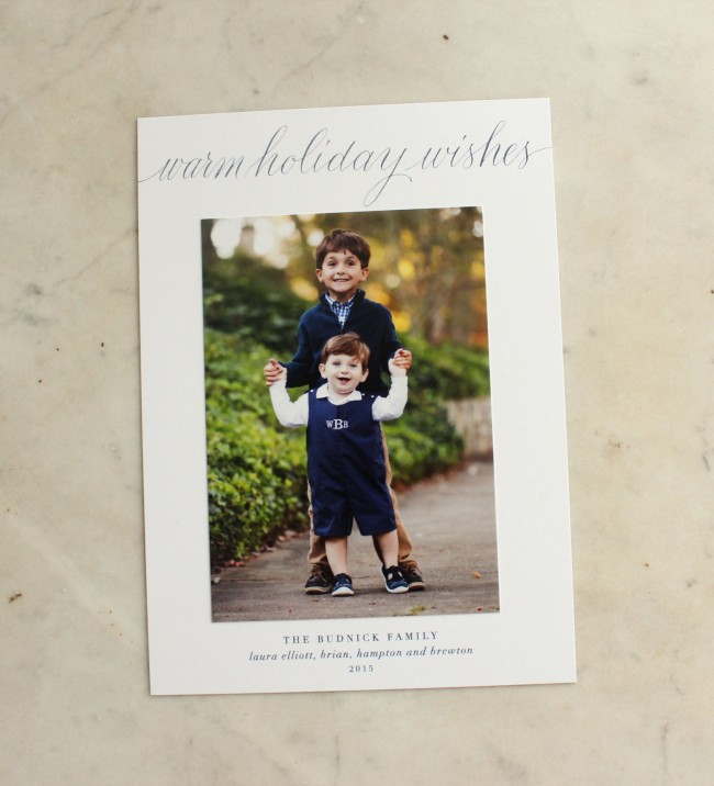 warm holiday wishes photo card 4