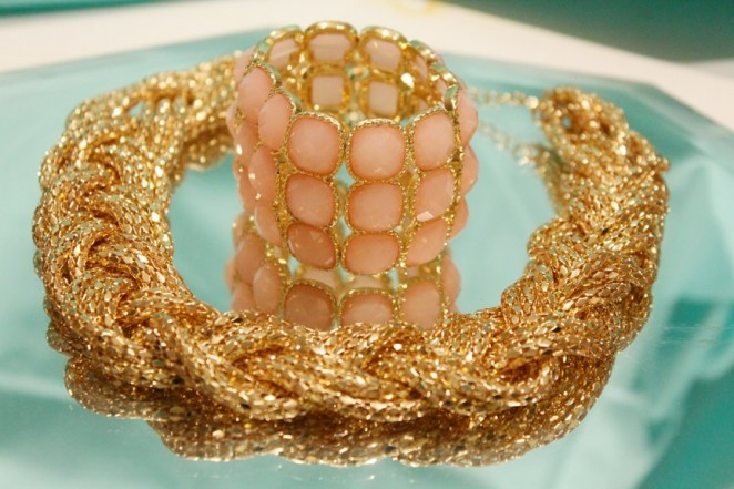 PINK bracelet and gold necklace - CHARMED