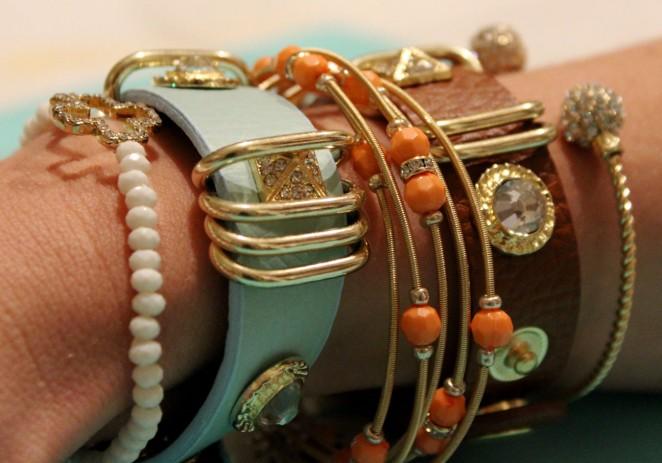 leather bracelets - CHARMED