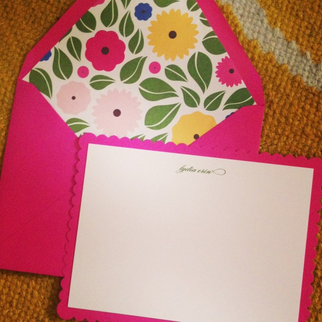 scalloped notecards