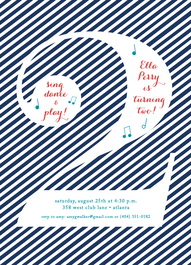 A musical birthday party calliespondence music birthday party invitation filmwisefo