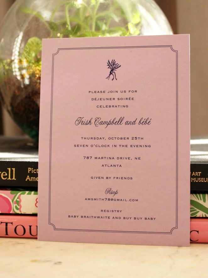 french baby shower invitation