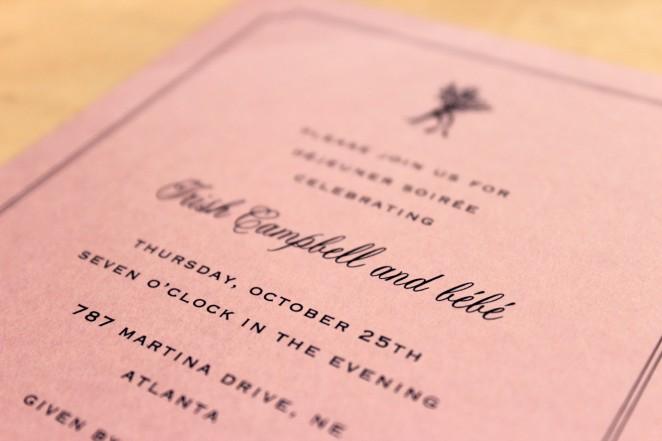 lavender navy baby shower invitation