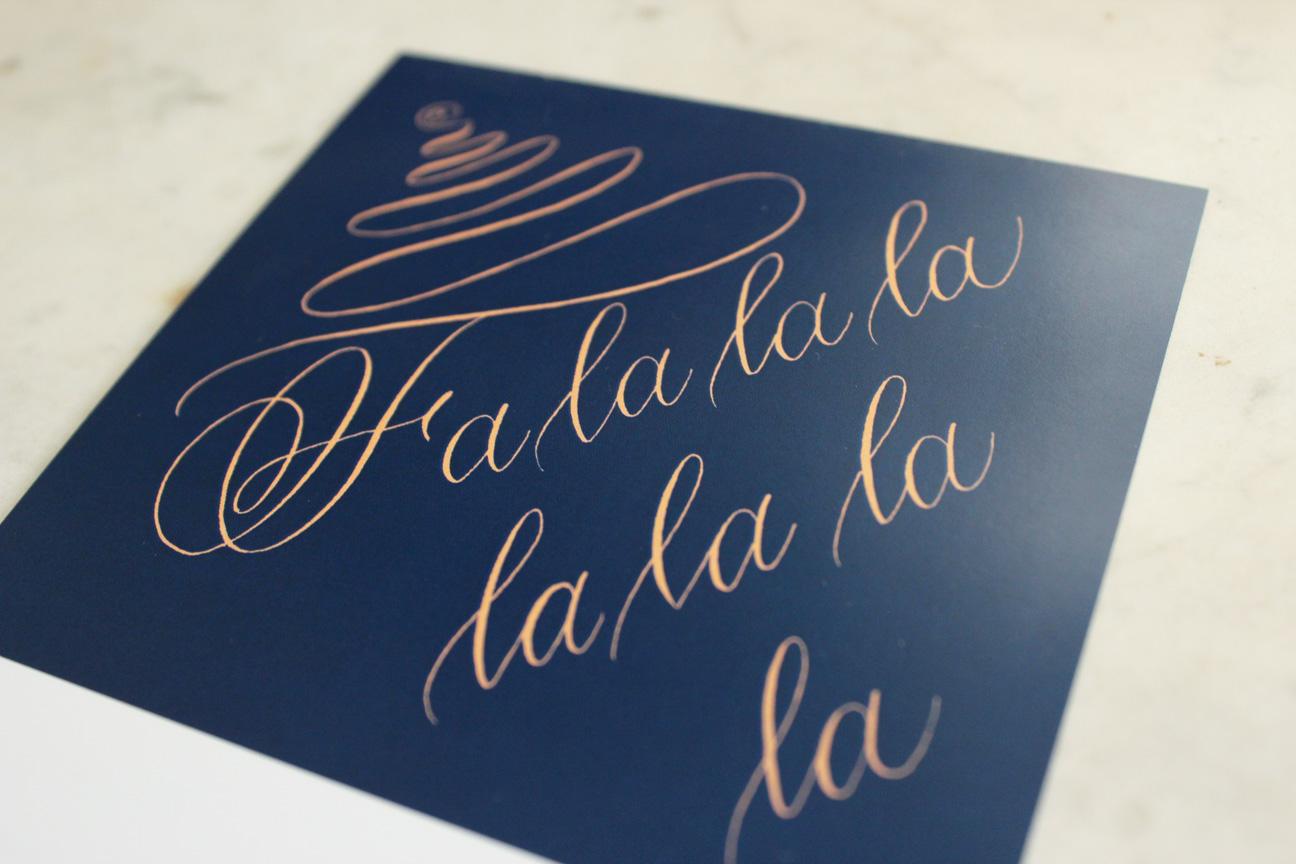 calligraphy collection - fa la la la la 1