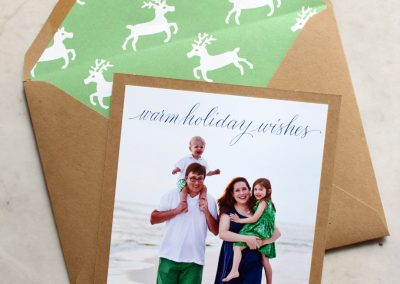 WARM HOLIDAY WISHES PHOTO CARD