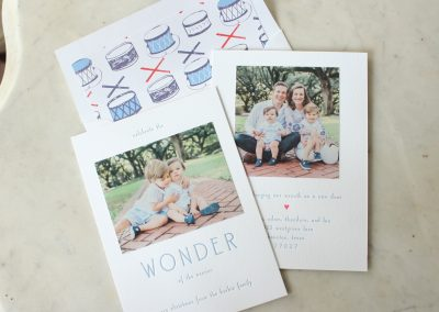 wonder & moving announcement, blue + red