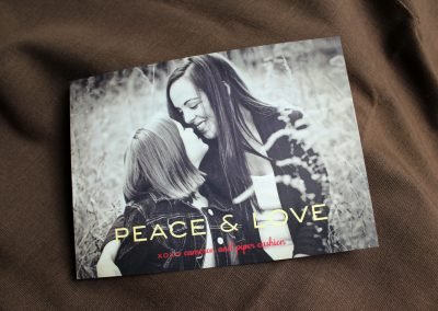 peace & love photo card