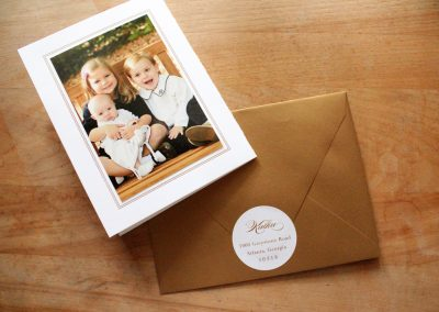 Trifold Holiday Birth Announcement