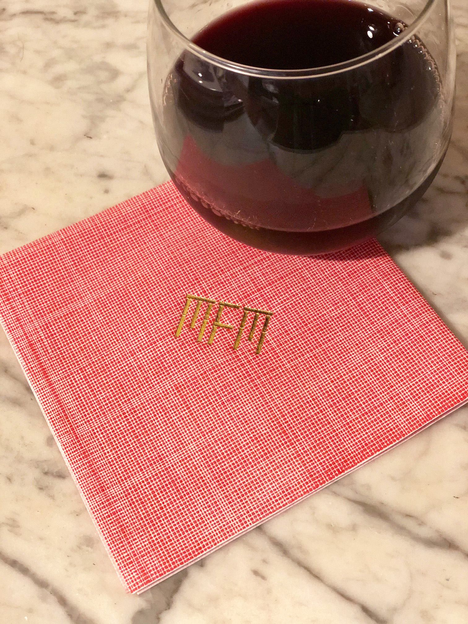 Personalized Cocktail Napkins Linen With Gold Foil Imprint Calliespondence