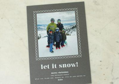 Let it Snow, serif style